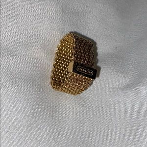 AUTHENTIC COACH gold ring
